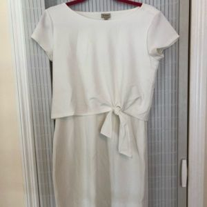 Cremieux NWOT White Short Sleeve Dress